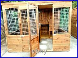 Double Dog Kennel And Run 8x8ft