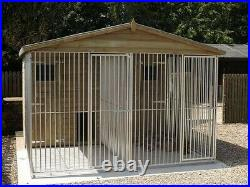 Double Dog Kennel And Run Free UK Only Delivery (Read Description)