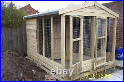 Double Dog Kennel and Run. Apex Roof. From £850