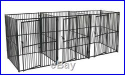 Extra Large Dog Kennel Metal Outdoor With 3 Run Kennels Separate Door Sturdy New