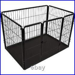 FLAMINGO Dog Kennel Kazan M Black Pet Run Crate Playpen Cage Outdoor Indoor