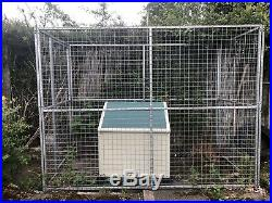 Galvanised Dog Run 6ft Tall And 8ft By 4ft
