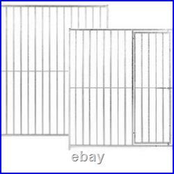 Galvanised Dog Run Panels 8cm Bar Spacings Prestige Range