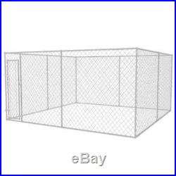Galvanised Steel Outdoor Dog Kennel Pet House Enclosure Run Cage Playpen 4 Sizes