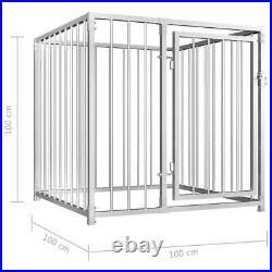 Galvanised Steel Outdoor Dog Kennel Pet House Enclosure Run Cage Playpen Steel