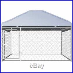 Galvanised Steel Outdoor Dog Kennel & Roof Pet House Enclosure Run Cage Playpen