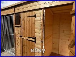 Galvanised dog kennel and run very high quality built various sizes