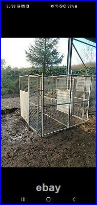 Galvanised dog kennel run