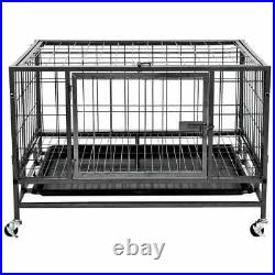 Heavy Duty Cozy Pet Puppy Playpen Run Crate Enclosure Metal Welping Dog Cage New