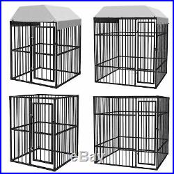 Heavy Duty Metal Dog Kennel Pet Play Pen with Removable roof Dog Cage Run Pen