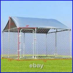 Kennel Cover Outdoor Chain Link Kennel Shade 7.5' x 7.5' for Pet Dog Run House