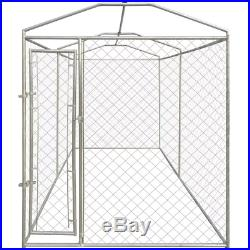 Large Dog Kennel Run Outdoor Garden Cage Training Canopy Cover Playing Steel UK