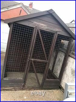 Large Dog Kennel/run Comes With A Roll Of New Roof Felt COLLECTION ONLY