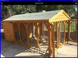 Large Double Dog Kennel And Run