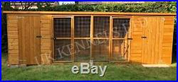Large Double Dog Kennel And Run. 16ft x 4ft. (Also for Cat, rabbits or ferrets)