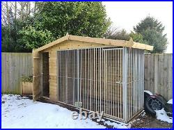 Large dog kennel and run