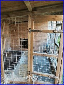 Large double dog kennel and run. 20ft long x 6ft deep