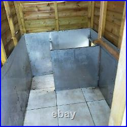 Large outdoor kennel. Run W & L 2000mm. Sleep AREA L 2000 W1210. Access doors 3