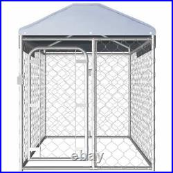 Metal Dog Kennel Pet Playpen WithRemovable Roof Heavy Duty Dog Cage Run Enclosure