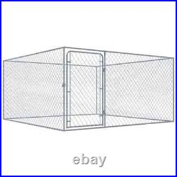 Outdoor Dog Kennel Galvanised Steel Pet Dog House Playpen Enclosure Run Cage
