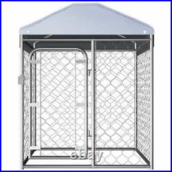 Outdoor Dog Kennel Metal Wire Playpen Run House Pet Fence Shade Shelter S M L