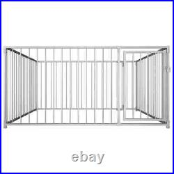 Outdoor Dog Kennel Run large Playpen Pet Fence Cage 1/2/4m Steel Lockable Neu