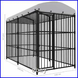 Outdoor Dog Kennel with Roof Pet Puppy House Enclosure Run Cage Y6O2