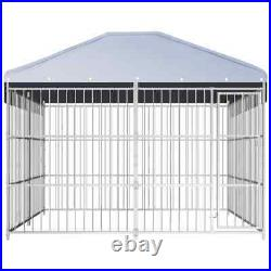 Outdoor XL Dog Kennel with Roof 3mx3mx2m run Large Pet Garden Cage Cat outside