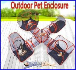 Outdoor cat large kennel dog pet cage enclosure tunnel house run playpen 5 sets