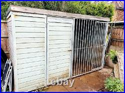 Outdoor dog kennel and run 5x10