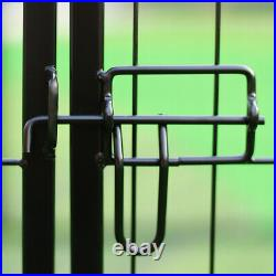 Puppy Pen Pet Dog Exercise Playpen 6 Panel Fence Kennel Enclosures Run Cage UK