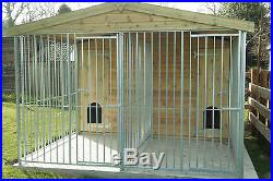 RHT KENNELS, double dog kennel and run 3m x 3m