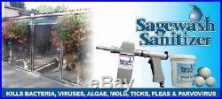 SAGEWASH PROFESSIONAL Disinfectant/Sanitizing System Kennels/Runs Dogs NEW PRO
