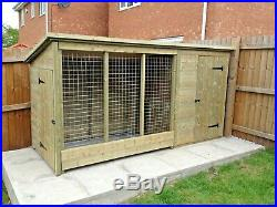 TANALISED DOG KENNEL AND RUN 10 ft X 4 ft X 5 ft HIGH