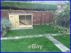 TANALISED DOG KENNEL AND RUN 10ft X 4ft X 4ft HIGH
