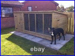 TANALISED DOG KENNEL AND RUN 8ft X 6ft X 5ft HIGH