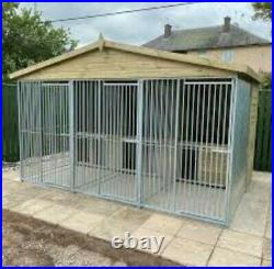 Triple Dog Kennel And Run Free UK Only Delivery (Read Description)