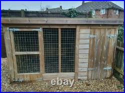 Used Dog Kennel And Run Approx 8x6