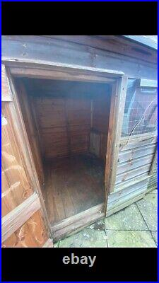 Used dog kennel and run. Large was used for a german shepherd