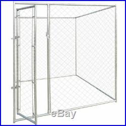 VidaXL Outdoor Dog Kennel 192x192x195cm Pet House Enclosure Run Cage Playpen
