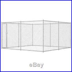 VidaXL Outdoor Dog Kennel Steel Pet Animal Cages House Puppy Shelter Runs