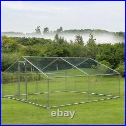Walk In Chicken Run Coop Kennel Poultry Cage Rabbits Exercise Enclosure 6 Sizes