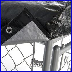 WeatherGuard 5 x 10' Large Outdoor Dog Run Kennel Waterproof Roof Cover (2 Pack)