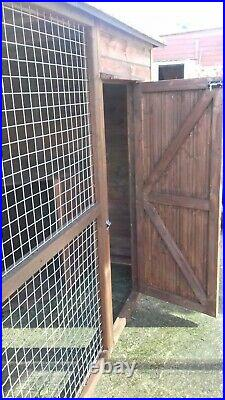 Wooden 10 by 5 Dog Kennel and Run 6 ft high Strong Mesh