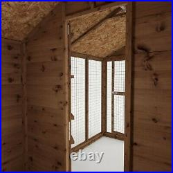 Wooden Garden Dog Kennel & Run 10x6 Outdoor Garden Building Apex Roof 10ft 6ft