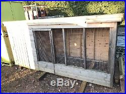 Wooden Timber Dog Kennel with Run 10ft x 4ft Custom Made And Never Used